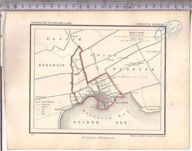 Hoorn ( gemeente )  Map Kuyper Gemeente atlas van Noord Holland
