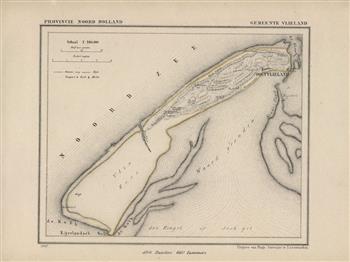 Vlieland  Map Kuyper Gemeente atlas van Noord Holland