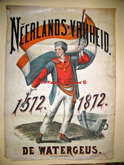( SCHOOLPLAAT ) Neerlands vrijheid. De Watergeus.