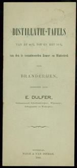 Distilatie-tafels van af 46% tot en met 51% van den te verantwoorden Zomer en Wintertrek voor branderijen berekend door E. Dulfer