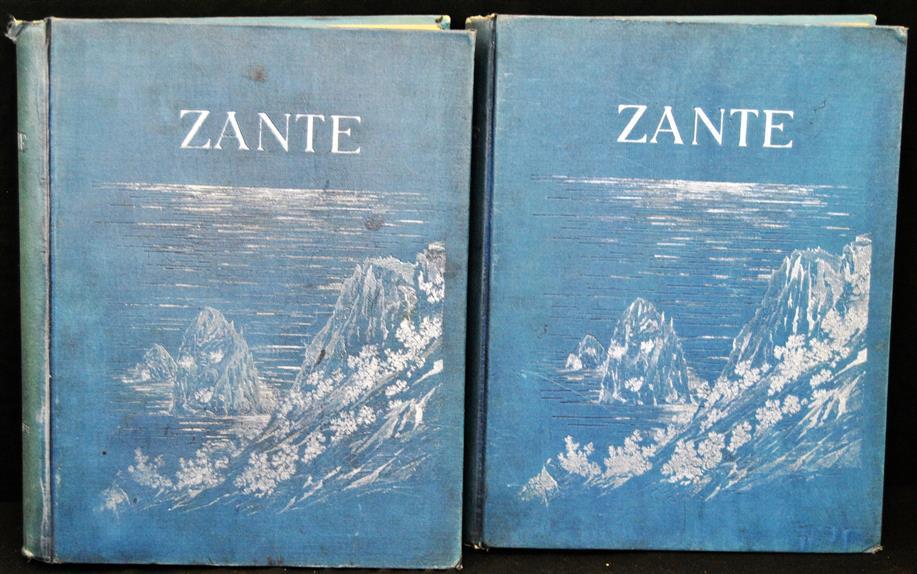 "Zante ( German edition ) 2 Volumes = Monograph of the island ""Zakynthos (Zante) """